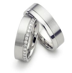Platinum Matching Wedding Rings
