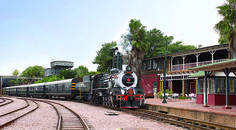 Enjoy a luxury rail tour with the Rovos train. Have a look at our offer: http://www.africanoutposts.co.za/packages/detail/news/rovos-rail/