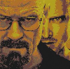 Breaking Bad - Walter White and Jesse Pinkman beaded portrait by PlanetPixel