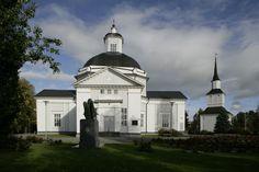 Lapua Minster, South Ostrobothnia province of Western Finland. - Etelä-Pohjanmaa. Lapuan tuomiokirkko ympäristöineen, Lapua. Lapuan tuomiokirkko.