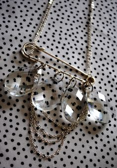diy jewelry made with safety pins - Google Search