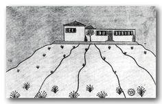 Το σπίτι στον Κοπανά σε σχέδιο Βάσου Κανέλου. Ο Βάσος Κανέλλος (Βασίλειος Κανελλόπουλος) γεννήθηκε στα Φιλιατρά Τριφυλίας. Ολοκλήρωσε τις εγκύκλιες σπουδές του στην Αθήνα.  Το 1915 γνώρισε την Isadora Duncan και γράφτηκε στη σχολή χορού που διατηρούσε στο σπίτι της στο Βύρωνα. Snoopy, Fictional Characters, Fantasy Characters