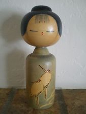 Kokeshi Wood Doll from Japan in 1970's