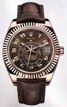 Rolex Sky Dweller -rich chocolate leather band and face