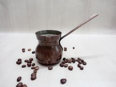Vintage Copper Pot Small Pot for brewing by GuestFromThePast