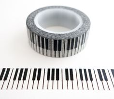 Single roll of washi masking tape with piano keys pattern. Great for travel journals, scrapbooking, gift wrapping, decorating cards and envelopes and more! Add a little dash of cuteness to any craftin