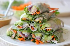Chicken Avocado Spring Rolls | Chew On This- brought to you by NatureBox!