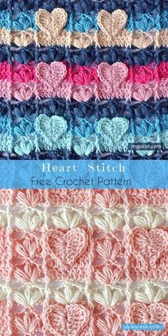Learning The Craft Of Crochet Stitches – Love Crochet & Knitting Crochet Stitches Free, Afghan Crochet Patterns, Crochet Squares, Free Crochet, Stitch Patterns, Knitting Patterns, Crochet Afghans, Baby Afghans, Manta Crochet