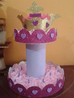 Para colocar las golosinas en su base. Baby Shower Princess, Princess Birthday, Baby Birthday, Birthday Parties, Prince Party, Sofia Party, Ideas Para Fiestas, Gold Party, Decoration Table