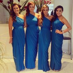 Lapis Blue Bridesmaid Dresses