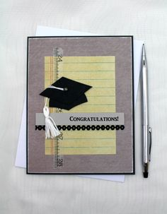 Your place to buy and sell all things handmade Graduation Cards Handmade, Handmade Birthday Cards, Greeting Cards Handmade, Masculine Birthday Cards, Masculine Cards, 8th Grade Graduation, Graduation Ideas, Secretary's Day, Fathers Day Cards