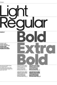 type Stockholm Design Lab (SDL) / Stadion / Stadium Sans / Schrift / 2007 Mom's Guide To Keeping Kid Poster Fonts, Typography Poster Design, Bold Typography, Typographic Design, Lettering Design, Free Typeface, Typeface Font, Sans Serif Fonts, Web Design