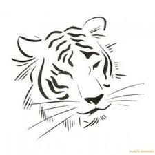Image result for tiger tattoo black and white
