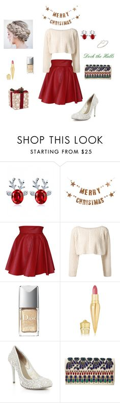 """Christmas Love"" by brophyash ❤ liked on Polyvore featuring Bloomingville, Funlayo Deri, UNIF, Christian Dior, Christian Louboutin, BCBGMAXAZRIA, Alice + Olivia and Aurélie Bidermann"