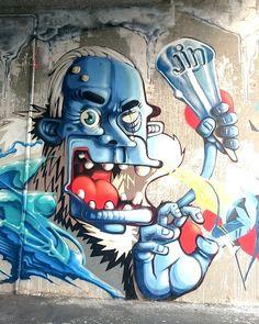 Nice! @mario_jin (http://ift.tt/1PMcy5W) #globalstreetart #characters #artist #paintedcities #murals by globalstreetart
