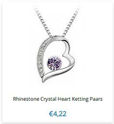 Rhinestone Crystal Heart Ketting #Nieuw www.ovstore.nl/nl/search/Rhinestone+Crystal+Heart+Ketting