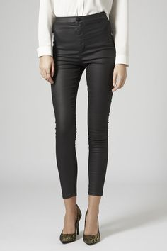 MOTO Black Coated Joni Jeans - Size 30 ***REALLY REALLY WANT