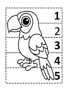 Five piece puzzles pre-k Preschool Curriculum, Preschool Printables, Montessori Activities, Preschool Classroom, Preschool Worksheets, Preschool Activities, Kindergarten, Teaching Kids, Kids Learning