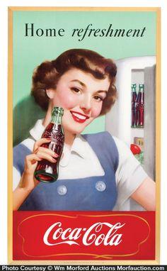 Bilderesultat for 1950 cola Vintage Coca Cola, Coca Cola Ad, Always Coca Cola, Pepsi, Coca Cola Santa Claus, Coca Cola Decor, Moving To Florida, Free Frames, Ad Art