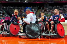 Team USA blocks the Brits from scoring at the 2012 London Paralympic Games