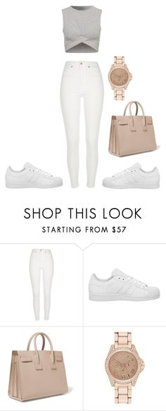 """Untitled #1312"" by chettycalista ❤ liked on Polyvore featuring River Island, adidas and Yves Saint Laurent"
