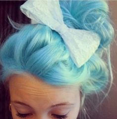 cotton candy blue. I know this is crazy, but I actually would do this for a party or something