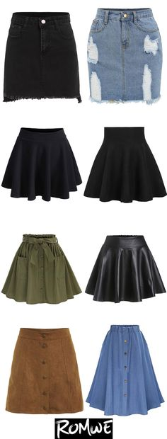 Fashion outfits, Chic skirts, Skirts Outfits, Trendy skirts, Fashion - Chic Skirts 2017 romwe com Asiaticas Chic romwecom Skirts - Teen Fashion Outfits, Cute Fashion, Outfits For Teens, Summer Outfits, Fashion Dresses, Fashion Shirts, Womens Fashion, Cute Skirts, Cute Dresses
