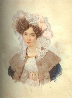 Портрет А.А.Брюлловой, жены художника.1830.Государственный Русский музей