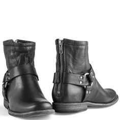 Frye Women's Phillip Harness Short Black Boots