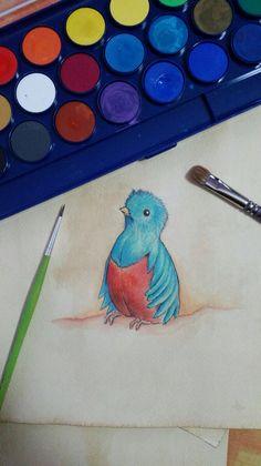 Disegni preparatori 'Le piume del Quetzal'