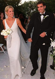 Tennis star Pete Sampras married actress Bridgette Wilson on September 30, 1999 in an intimate backyard ceremony at the groom's Beverly Hills home. The bride walked down the aisle in an ivory silk georgette V-neck Vera Wang gown. Vera Wang gowns are sold at The Bridal Salon at Saks Jandel.