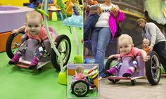 Baby uses a DIY wheelchair after cancer left her paralysed #DailyMail
