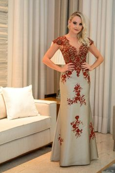 Long dress with brown lace,prom dress Bridesmaid Dresses, Prom Dresses, Formal Dresses, Wedding Dresses, Party Wear, Party Dress, Formal Wear, African Fashion, Beautiful Dresses