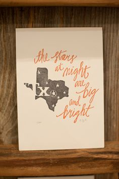 Texas print from One Canoe Two