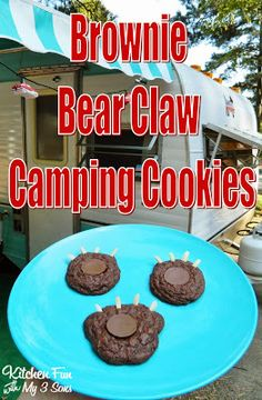 Brownie Bear Claw Camping Cookies & Other Camping Food Ideas!