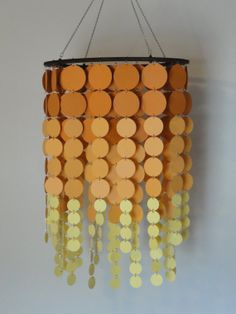 Sunset Circle mobile / chandelier in shades by WhimsyCreationsEF, $45.00
