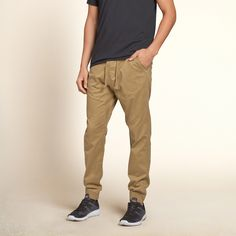 Guys Hollister Twill Jogger Pants | Guys Jeans & Bottoms | HollisterCo.com