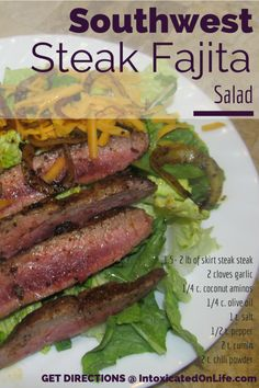 #LowCarb Southwest Steak Fajita Salad Shared on https://www.facebook.com/LowCarbZen