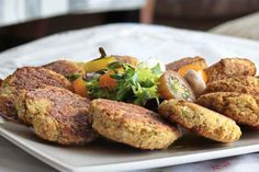 Falafel al horno Thermomix Cocina Natural, Asian Recipes, Ethnic Recipes, Superfoods, Baked Potato, Veggies, Menu, Cooking, Hawaiian