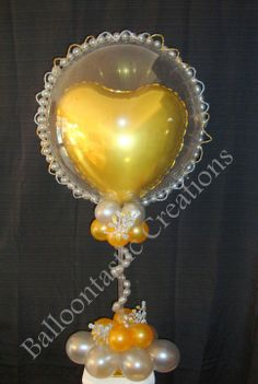 table balloon column | Elegant Centerpiece by Nadia Azar, Balloontastic Creations, New Jersey ...