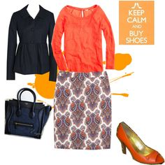 A fashion look from March 2012 featuring baseball shirts, J.Crew and pencil skirt. Browse and shop related looks.