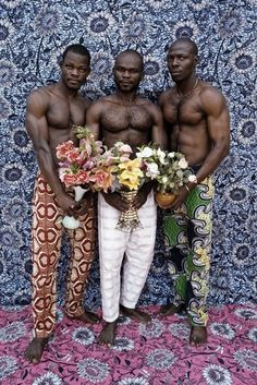 Leonce Raphael Agbodjelou, Untitled (Musclemen series), 2012