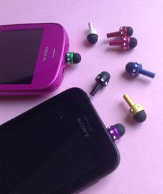 Mini Stylus set of 4 dust plug earphone by GirlySuppliesDeJaVu