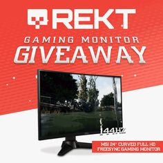 Enter This MSI Curved 144Hz Gaming Monitor Giveaway!