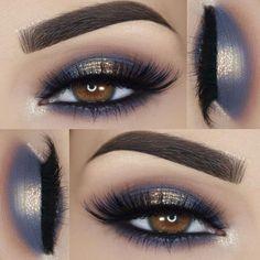 Gorgeous Makeup: Tips and Tricks With Eye Makeup and Eyeshadow – Makeup Design Ideas Eye Makeup Blue, Halo Eye Makeup, Eye Makeup Tips, Makeup For Brown Eyes, Makeup Inspo, Eyeshadow Makeup, Makeup Ideas, Blue Eyeshadow For Brown Eyes, Makeup Style