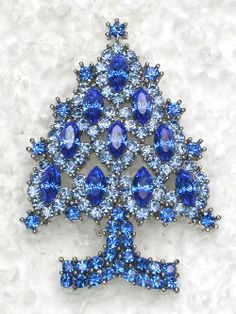 blue CHRISTMAS TREE pin