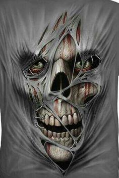 Skull with eyes Skull Tattoos, Sleeve Tattoos, Tatoos, Bicep Tattoos, Clown Tattoo, Dark Fantasy Art, Dark Art, American Man, Reaper Tattoo