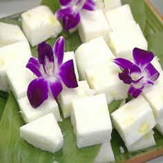 Haupia With Pineapple   Haupia is a traditional Hawaiian coconut pudding - This recipe brings the best of both worlds together by adding pineapple to this traditional Hawaiian dessert.