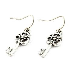 Retro Pendant Earrings With the Key Shape And Made Of Alloy