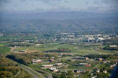 A bird's eye view of Blacksburg, taken from above U.S. 460 and Virginia Tech's Corporate Research Center. (Posted April 25 to www.facebook.com/virginiatech)